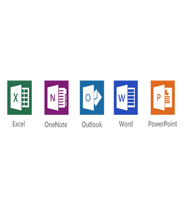 microsoft excel, onenote, outlook, word, powerpoint
